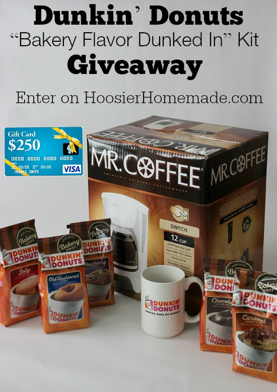 Dunkin' Donuts Giveaway | Enter to win on HoosierHomemade.com