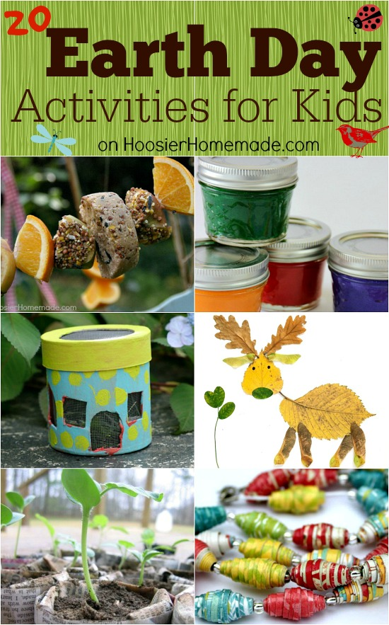 Earth Day Activities for Kids on HoosierHomemade.com