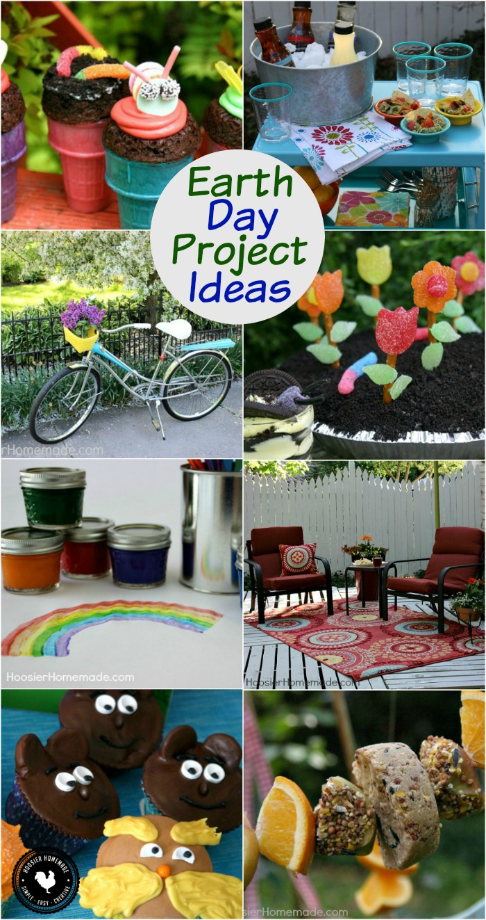 Earth Day Project Ideas: it's great to be reminded how important it is to teach our children how to take care of the Earth! Bake a fun Earth Day Cupcake, do an Earth Day Craft, Recycle, Upcycle and Learn how to help the earth! Save these ideas to your DIY Projects Board!