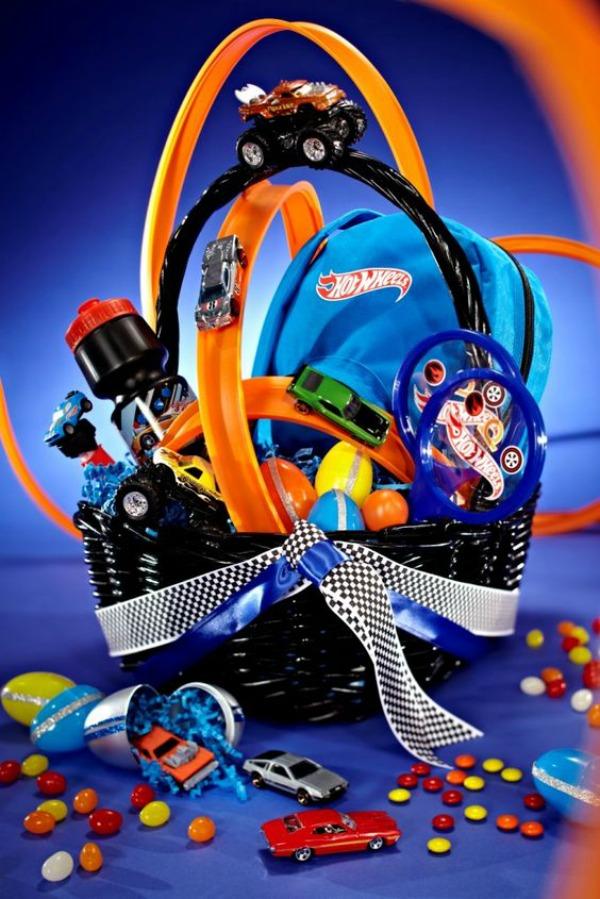Hot Wheels Cars Easter Basket