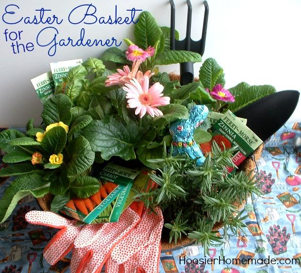 Easter Basket for the Gardener | Details on HoosierHomemade.com