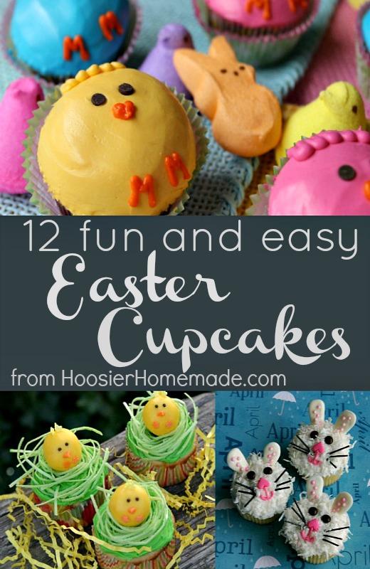 12 Easter Cupcakes :: HoosierHomemade.com