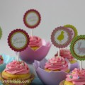 Printable Easter Cupcake Toppers | Available on HoosierHomemade.com