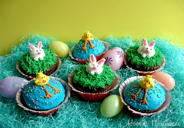 Easter Cupcakes :: HoosierHomemade.com