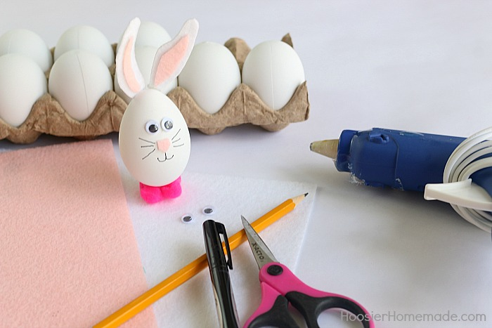 Decorated bunny Easter egg