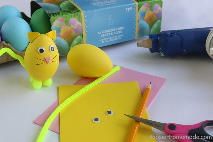 Decorated Cat Easter Egg