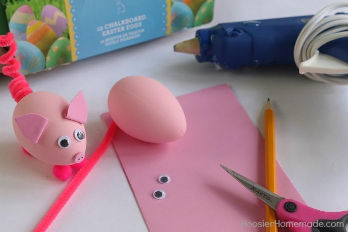 Decorated pig Easter egg