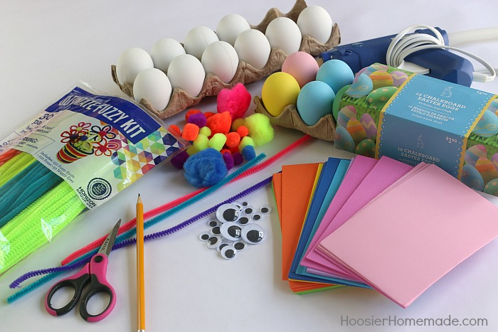 Supplies to make Easter Egg Crafts for Kids