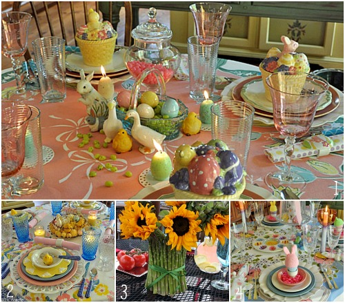 Easter round up dinner dessert decorations and more for Easter dinner table decorating ideas
