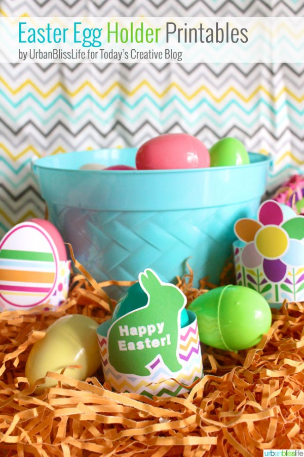 Free Printable Easter Egg Holder - get ready for the Easter bunny to visit! These printables hold a large plastic or dyed egg! Perfect for your Easter table! Pin to your Easter Board!