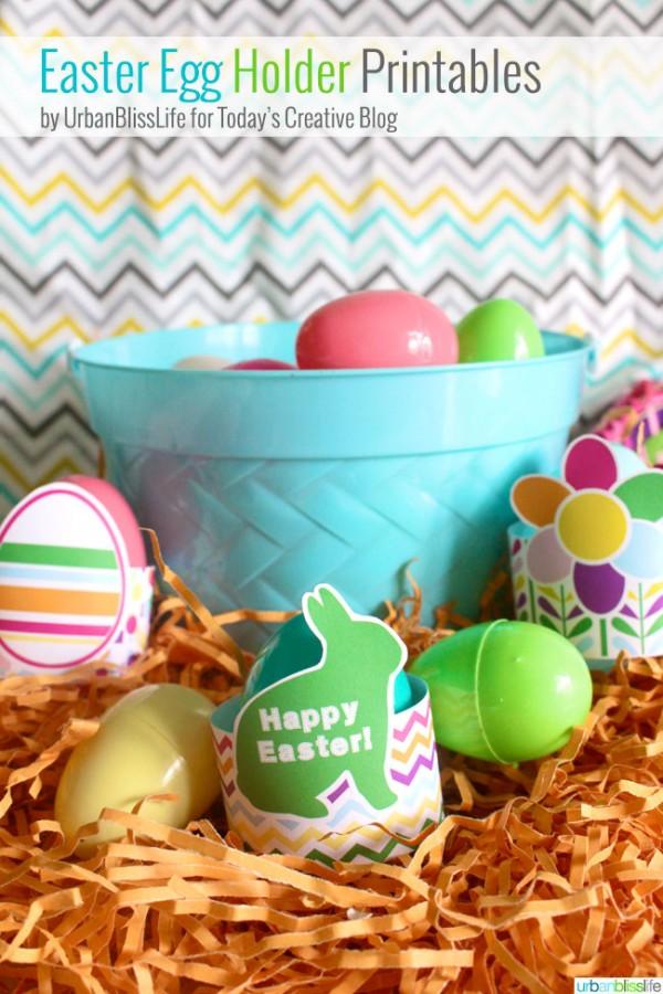 Free Printable Easter Egg Holders Spring Inspiration