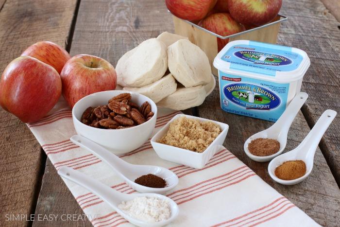 Ingredients to make Easy Apple Cobbler
