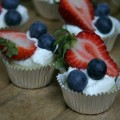 Easy Berry Mini Cheescakes :: Recipe on HoosierHomemade.com