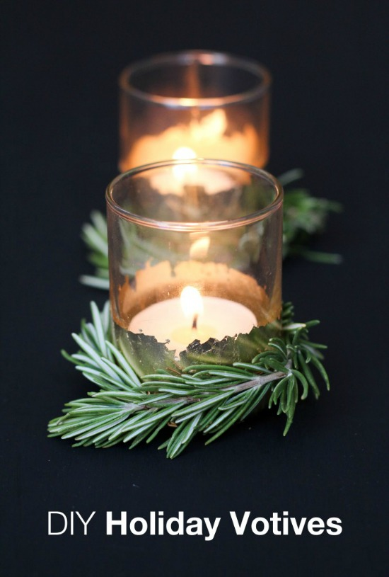 Make your table sparkle this holiday season with this Easy Christmas Craft! These gorgeous votives will also make great Christmas gifts! Pin to your Craft Board!