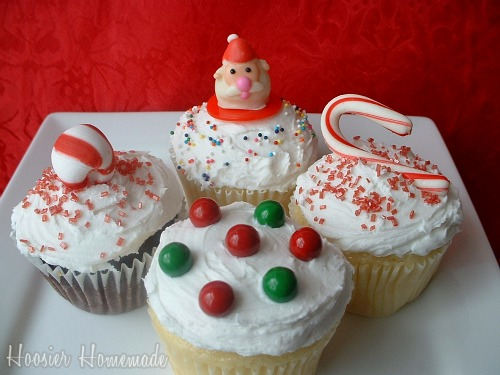 Christmas Decorations Cupcakes Easy : Easy christmas cupcakes cupcake tuesday hoosier homemade