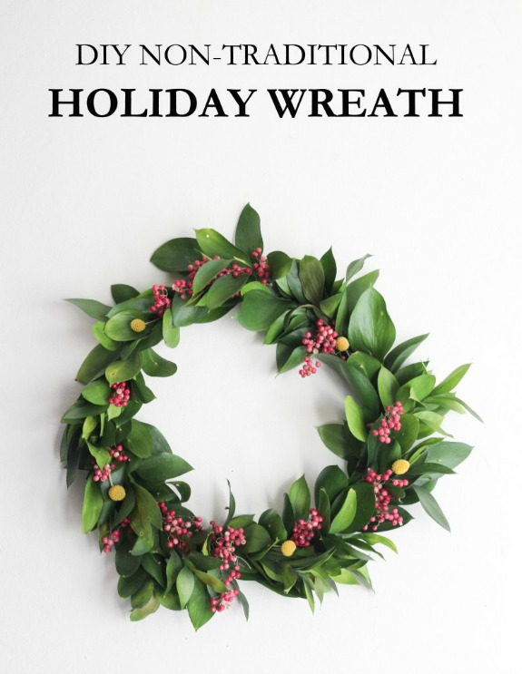 Easy Christmas Wreath: 100 Days of Homemade Holiday Inspiration on HoosierHomemade.com