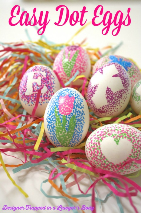 Easy Dot Decorated Eggs