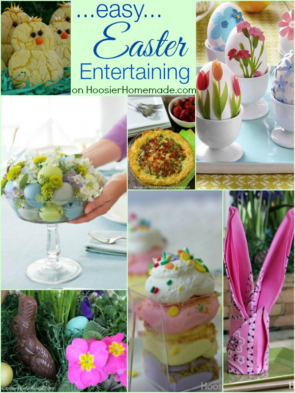 Easy Easter Entertaining Ideas: Recipes, Desserts, Decorated Eggs, Baskets, Centerpieces and More | on HoosierHomemade.com