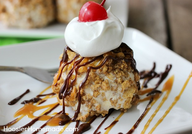 Easy fried ice cream hoosier homemade easy fried ice cream without frying recipe on hoosierhomemade ccuart Choice Image