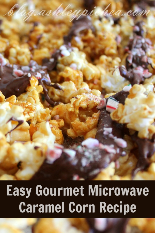 This easy to make Microwave Gourmet Popcorn is perfect for gifts, cookie exchange trays, and more! Visit our 100 Days of Homemade Holiday Inspiration for more recipes, decorating ideas, crafts, homemade gift ideas and much more!