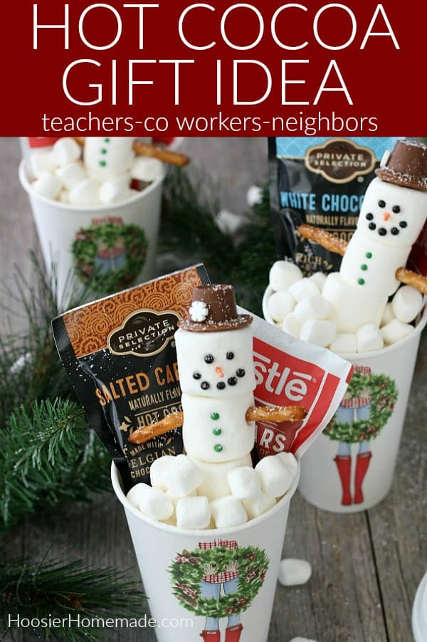 Marshmallow Snowmen and Easy Gift Idea for Teachers, Co-Workers, Neighbors and more