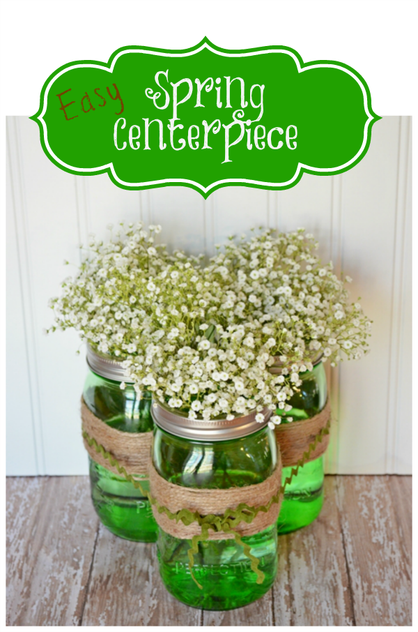 Decorate your table with this Easy Spring Centerpiece! Just a few supplies needed! Pin to your Decorating Board!