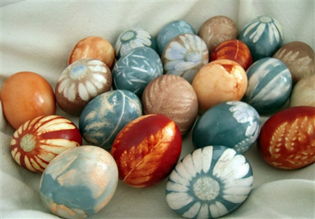 Natural Dye Colored Eggs
