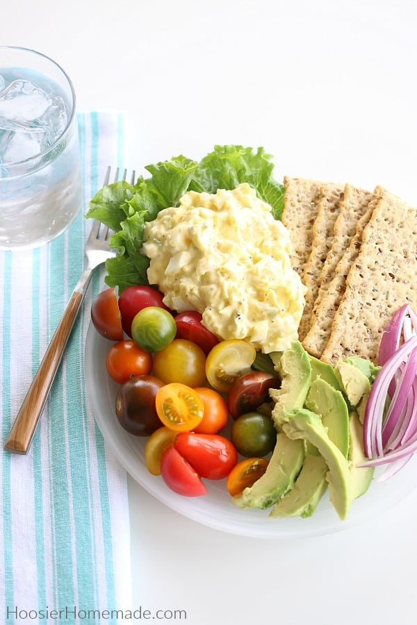 Egg Salad on Plate with Tomatoes