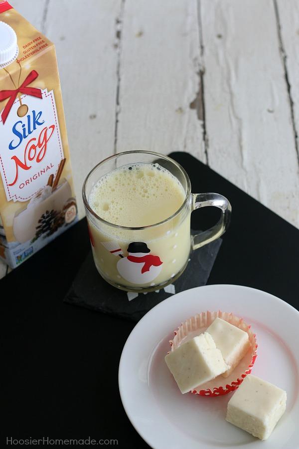 Eggnog Fudge made with Silk Nog