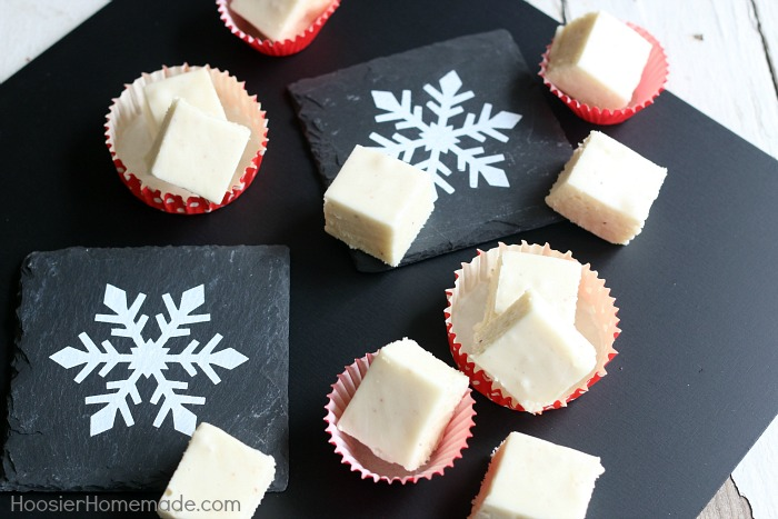 Eggnog Fudge made with Dairy Free Eggnog