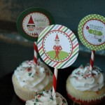 Elf on the Shelf Cupcake Toppers
