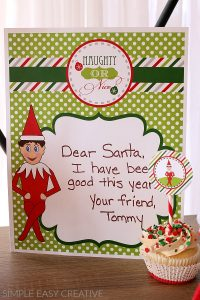 Printable Elf on the Shelf Letter to Santa