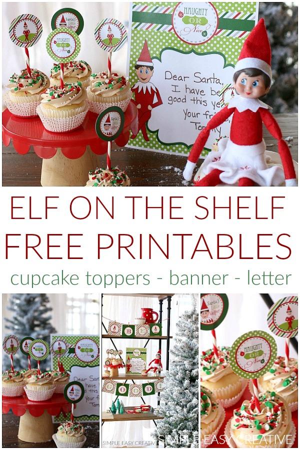Elf on the Shelf Printables