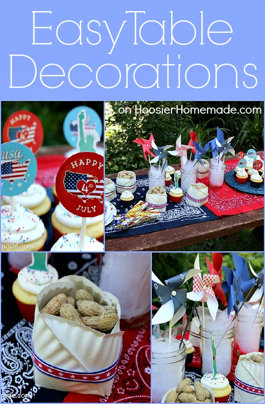 Easy Table Decorations : Summer Entertaining :: on HoosierHomemade.com