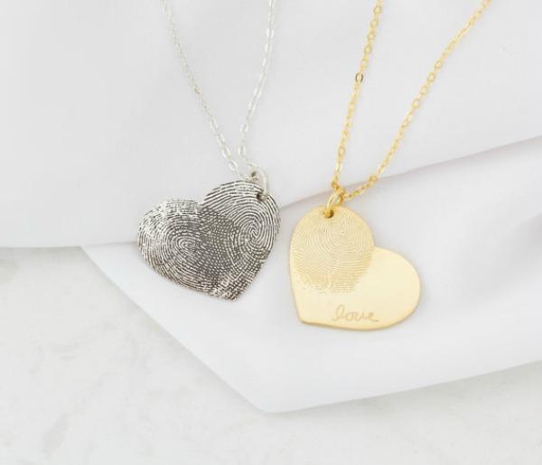 Fingerprint Jewelry from Etsy