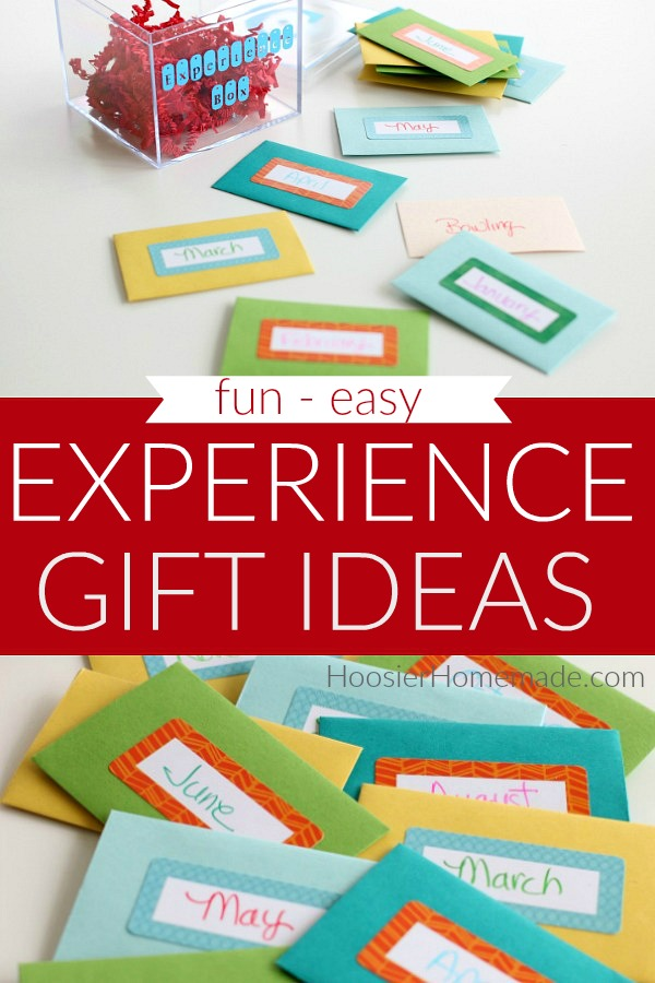 Learn how to make an Experience Gift Ideas Box
