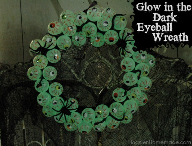 Eyeball Wreath Tutorial on HoosierHomemade.com