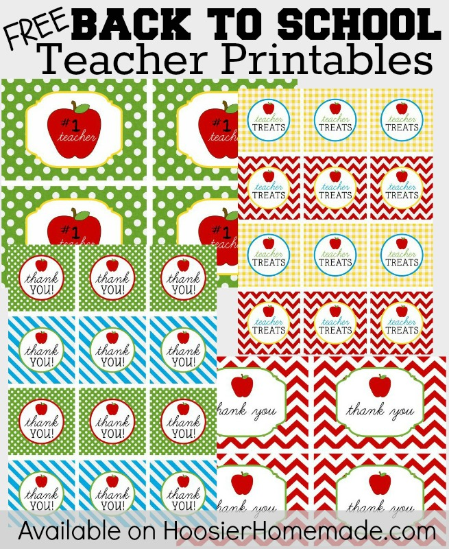 FREE Back to School Teacher Printables :: Available on HoosierHomemade ...