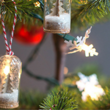 DIY Mini Snow Globe Ornaments – 100 Days of Homemade Holiday Inspiration