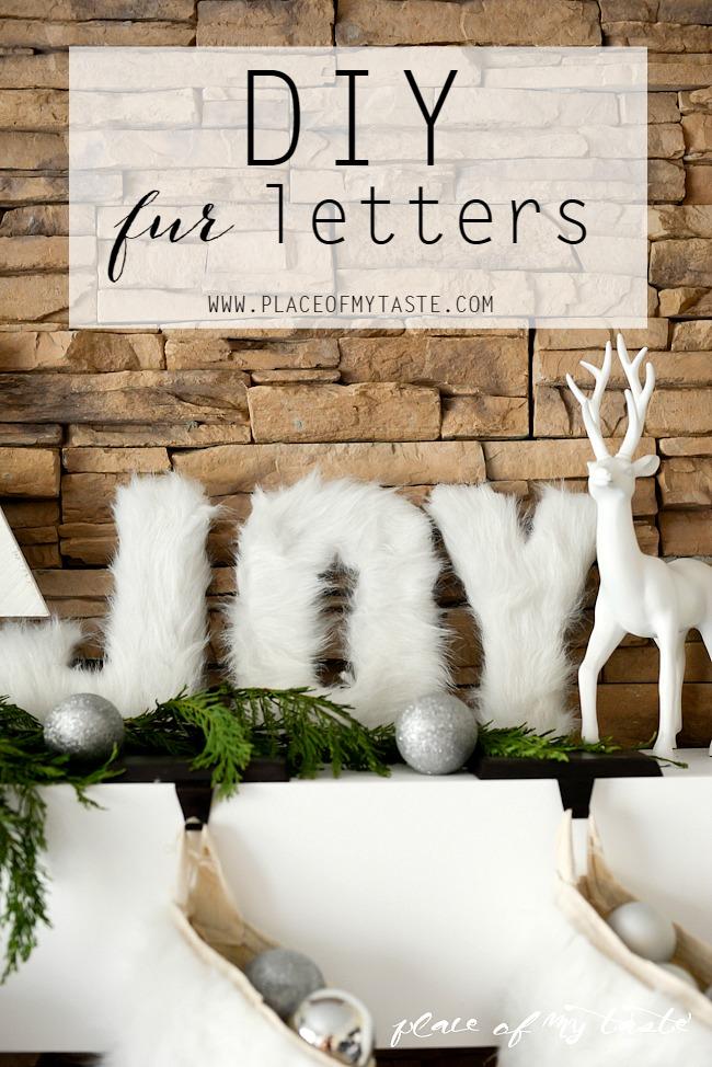 DIY Fur Christmas Letters