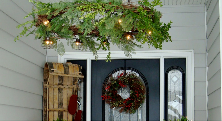 Wreath Chandelier – 100 Days of Homemade Holiday Inspiration