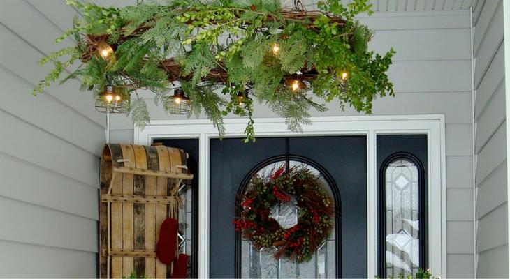DIY Wreath Chandelier