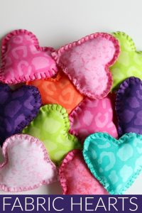Fabric Stuffed Hearts
