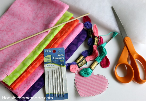 How to make fabric hearts