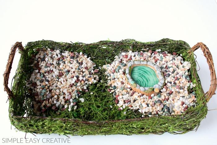 Add miniature pond to Fairy Garden