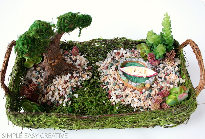 Add miniature boat to Fairy Garden