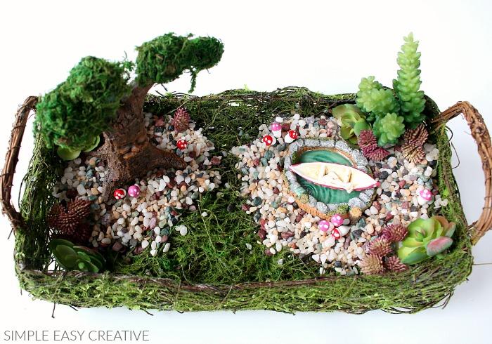 Add miniature mushrooms to the Fairy Garden