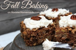 Fall Baking on HoosierHomemade.com