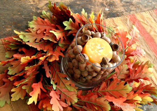Easy fall centerpiece hoosier homemade