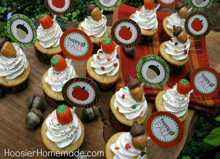 Fall-Cupcakes Toppers
